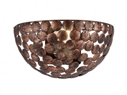 TRIO VINTAGE Wandleuchte Metall Kupfer Anitk B28cm Wandlampe Wohnzimmer Lampe