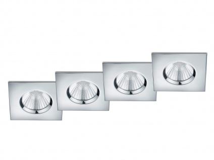 LED Einbaustrahler Decke 4er Set eckig dimmbar Chrom glänzend 5, 5W Deckenleuchte - Vorschau 2