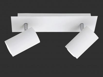Schwenkbarer Deckenstrahler mit 2 dimmbaren LEDs - Spotleuchte für Innen in Weiß
