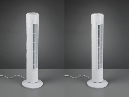 Säulenventilator Turmventilator 2er SET in Weiß oszillierend 3 Stufen, 50 Watt