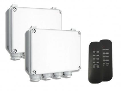 2er-Set Outdoor Funk Dreifachschalter für Geräte bis 400W + Fernbedienungen