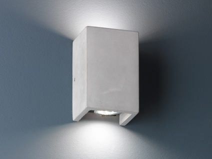 LED Wandbeleuchtung für Wohnzimmer aus Beton Up & Down Lichteffekt 15x10cm