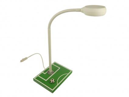 Leseleuchte Schreibtischlampe Kinder Flexrohr Fussballfeld Nachttischleuchte NEU