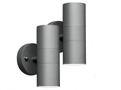 2er-Set Aluminium Up-Down Wandleuchten MODENA grau, GU10, Höhe 17 cm