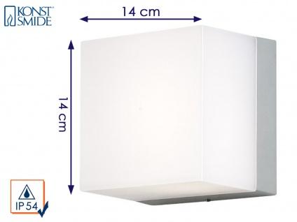 Konstsmide Energiespar Außenwandleuchte SANREMO 14x14cm Außenlampe bruchsicher