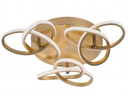 Raffinierte Deckenleuchte LED Blattgold-Optik 39W - Designerleuchten Esszimmer - Vorschau 2