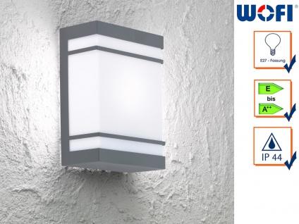 Wandleuchte / Außenleuchte Edelstahl Höhe 24cm E27, Fassadenbeleuchtung Haus
