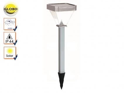Globo LED Solarleuchte mit Erdspieß, IP44 Gartenleuchte Solar Erdspießleuchte