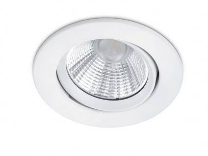 LED Einbaustrahler Decke rund Ø 8, 5cm schwenkbar dimmbar Weiß matt 5, 5W Lampen