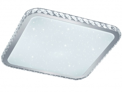 Eckige LED Deckenleuchte mit Starlight Effekt Fernbedienung Dimmer & Farbwechsel