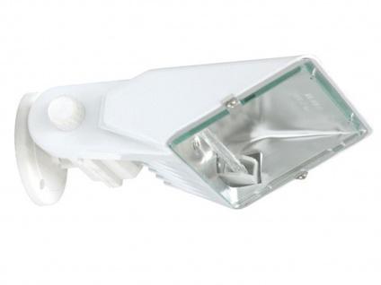 Ranex 300W Halogenstrahler Weiß IP33, Außenstrahler Gartenstrahler Flutlicht