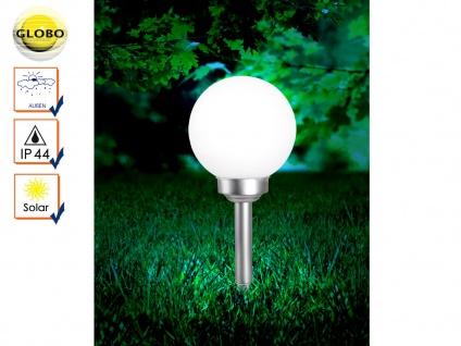 LED Solarlampe Gartenkugel Kunststoff 20cm mit Erdspieß, Solarkugel Gartenlampe