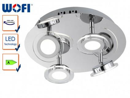 4-flg. LED-Deckenleuchte rund, Spots schwenkbar, Wofi-Leuchten