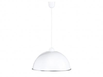 Designer Pendelleuchte Lampenschirm in weiß Ø40, 5cm 1 flammige Küchenlampe Flur