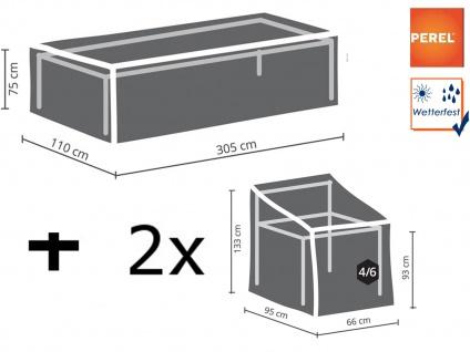 Gartenmöbelset XXL: 1x Hülle für Tisch bis 300cm + 2x Schutz für 4-6 Sessel 90cm