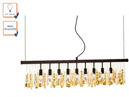 Pendelleuchte AMELIA mit 9 LEDs, L. 120cm, Hängelampe Hängeleuchte Pendel