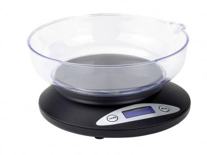 Küchenwaage mit Wiegeschale Digitaldisplay 2kg Tara-Funktion 1g-Schritte WAAGE