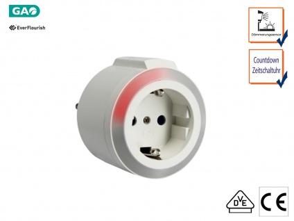LED-Nachtlicht für die Steckdose mit Countdown Zeitschalter & Dämmerungssensor