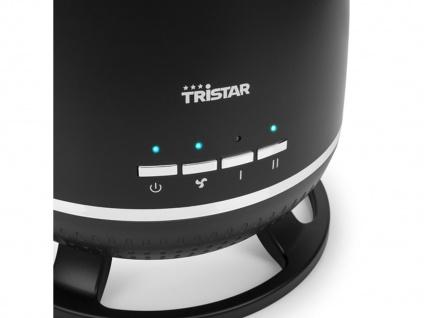 Elektroraumheizung 360° mit Thermostat & Zeitschaltuhr, Keramikheizlüfter rund - Vorschau 4