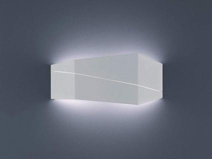Wandbeleuchtung eckig in weiß matt für Wohnzimmer Up & Down Lichteffekt 40x18cm