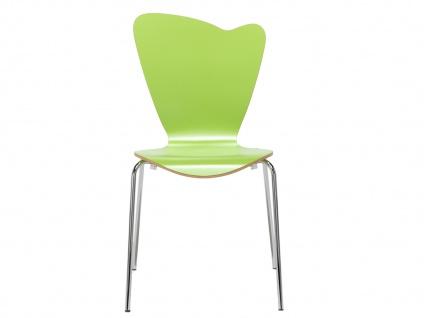 Design Stuhl HEART in grün, Stapelstuhl Esszimmerstuhl Bistrostuhl Schalenstuhl - Vorschau 2