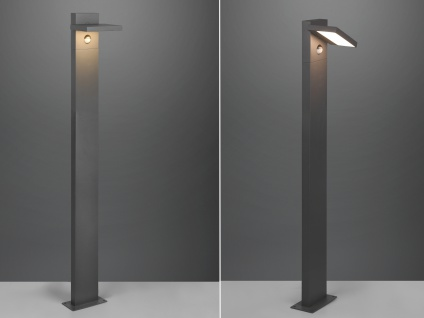 LED Wegeleuchten 2er Set mit Bewegungsmelder Anthrazit Gartenlampen mit Strom