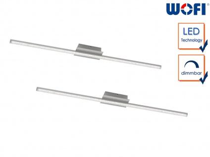 2 LED Wandleuchten in Nickel matt L. 120cm dimmbar Wohnraumleuchten Wohnzimmer