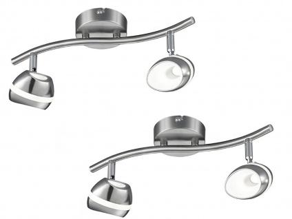 2er Set LED Deckenstrahler 2flammig Spots schwenkbar, Retro Deckenlampe Strahler - Vorschau 2