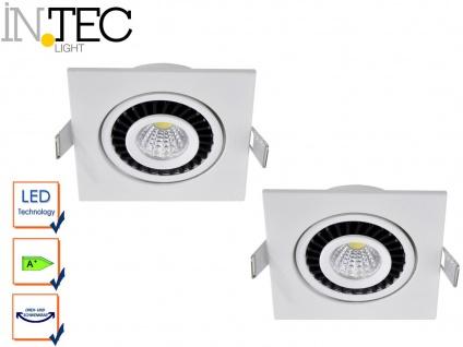 2er Set LED Einbaustrahler 3W Spot schwenkbar weiß Deckenstrahler Einbauleuchte