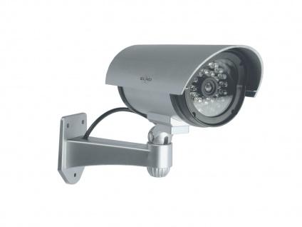 Kamera Attrappe IR-LED's Aluminium silber - Fake Dummy Innen & Außen Überwachung - Vorschau 2
