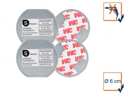 2x Befestigungs-Set Universal-Magnetmontageplatte Ø 6cm für Rauchmelder