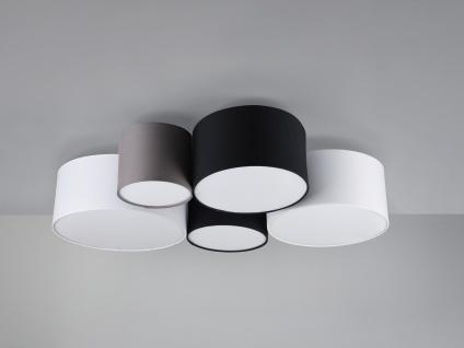Ausgefallene mehrflammige LED Deckenlampe mit verschiedenen Stofflampenschirmen - Vorschau 4