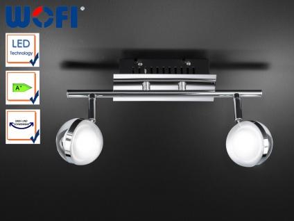 LED Deckenleuchte, Deckenstrahler Retro, Spots schwenkbar, Chrom, Wofi-Leuchten