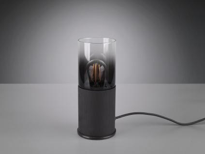 Ausgefallene Tischleuchten Zylinderform, einflammige Rauchglas Tischlampe schmal - Vorschau 4