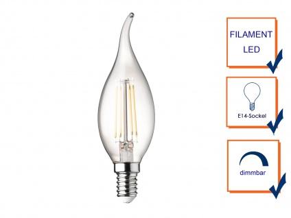 Sturmkerze Filament LED dimmbar E14 Leuchtmittel Vintage für Kronleuchter 3 Watt - Vorschau 3
