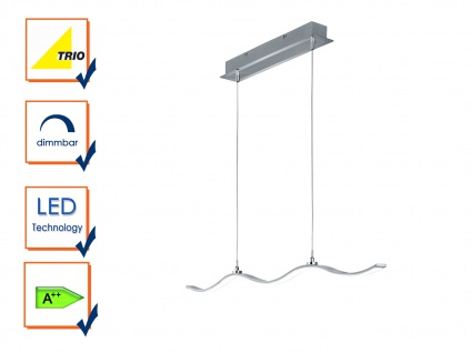Trio Marius dimmbar aluminium gebürstet Pendelleuchte LED Hängelampe