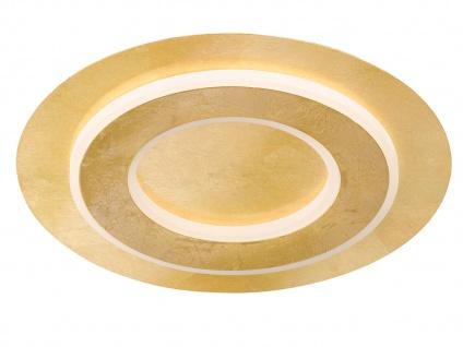 Runde LED Deckenleuchte Ø 45cm goldfarben 25W - edle Wohnraumleuchten Bürolampem