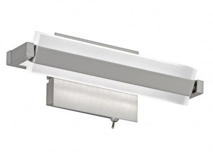LED Wandleuchte Wandlampe TURN Nickel matt, Acryl weiß Länge 25 cm