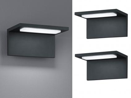 Moderne LED Außenwandleuchten Anthrazit - 2er Set Terrassenbeleuchtung Wandlampe