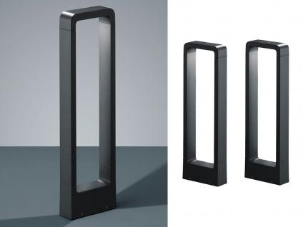 LED Sockelleuchten in Anthrazit 50cm - 2er Set Wegeleuchten Terrassenbeleuchtung - Vorschau 1