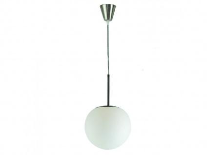 Pendelleuchte Kugel Glas, Ø20cm mit dimmbarem E27 LED Leuchtmittel, Flurlampe