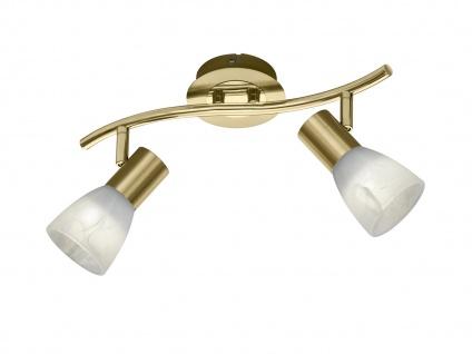 2 flammiger LED Deckenstrahler für Innen schwenkbar Messing matt fürs Wohnzimmer - Vorschau 2