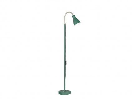 Flexible Honsel Stehleuchte grün Retrodesign, Wohnzimmerleselampe mit Reflektor