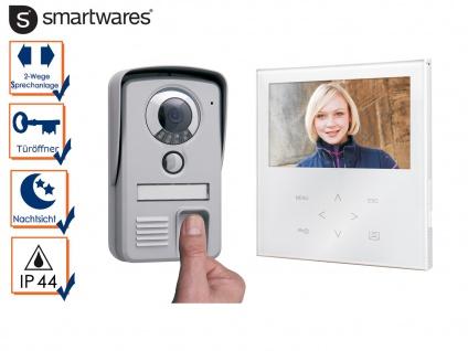 Video Türsprechanlage mit Touchscreen + Fingerabdruckscanner, Gegensprechanlage