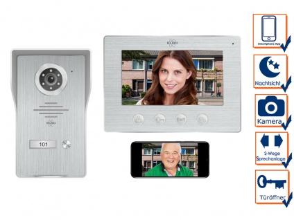 IP Türsprechanlage mit Kamera und Monitor - Video Türklingel für 1 Familienhaus
