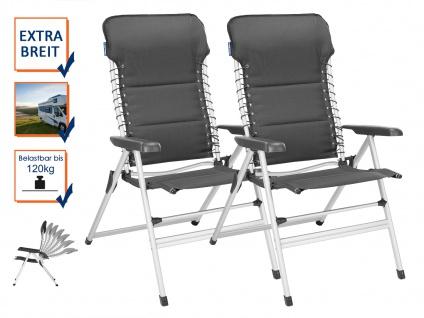 SET 2 stabile bequeme Balkonstühle klappbar Liegestuhl Campingstühle Klappstühle - Vorschau 1