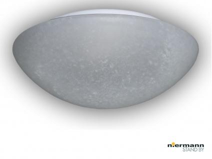 Glasleuchte PERGAMENT Design Ø 25cm Deckenlampe rund Glas Küchenlicht