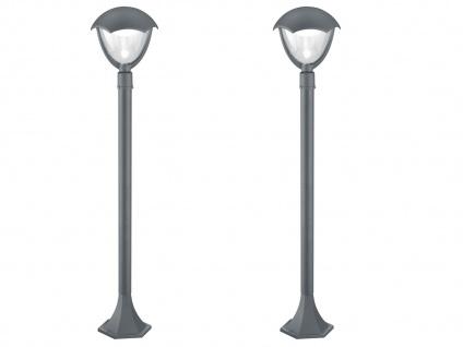 2er Set Trio LED Wegeleuchten Pollerleuchten GRACHT anthrazit, Außenbeleuchtung - Vorschau 2