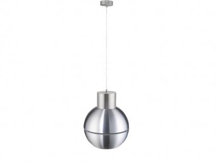 Kugel Pendelleuchte mit dimmbare LED, Design Aluminium matt Ø 28cm, Hängelampe