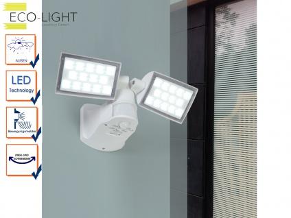 2flammiger LED Außenfluter PERI mit Bewegungsmelder und Ambiente Light Funktion